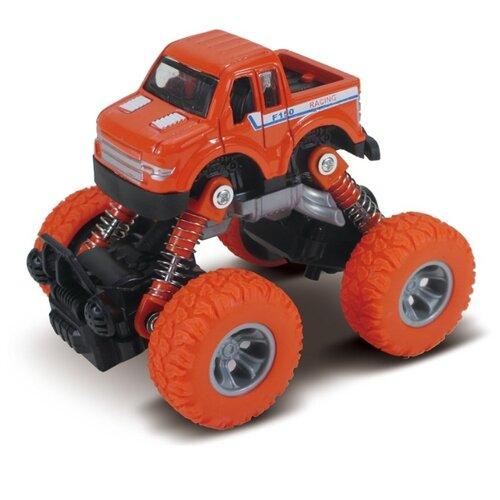 Машинка Funky Toys die-cast, инерционный механизм, рессоры, оранжевая, 1:46 (FT61074)