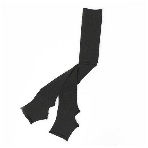 Гетры женские с открытой пяткой (60 см) - 009 (чёрный) - размер универсальный/One size