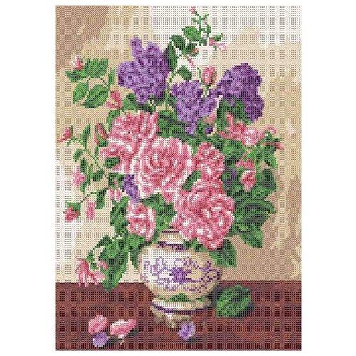 Каролинка Канва с рисунком для бисера и ниток Запах роз 24.3 x 35 см (КБЦ 3047)