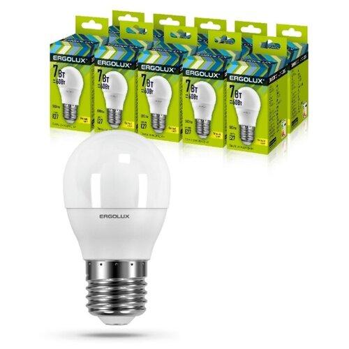 Фото - Светодиодная Лампа Ergolux LED-G45-7W-E27-3K упаковка 10 шт светодиодная лампа ergolux led g45 11w e27 6k упаковка 10 шт