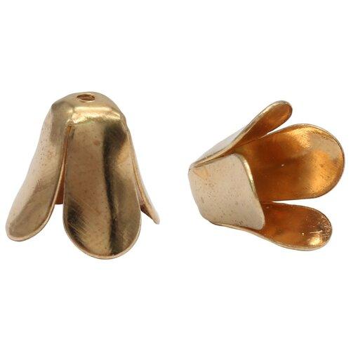 Купить 4AR201 Шапочка для бусин, 12мм 30шт/упак, Астра (Золото), Astra & Craft, Фурнитура для украшений