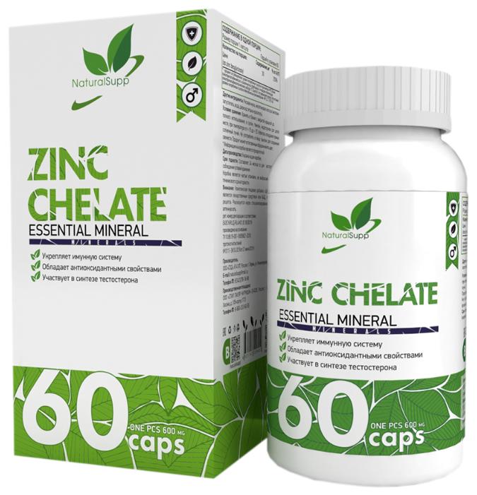 Купить Цинка хелат NaturalSupp Zinc Chelate 25 мг 60 капс. по низкой цене с доставкой из Яндекс.Маркета