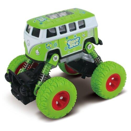 Автобус инерционный Funky Toys Автобус, die-cast, рессоры, зеленый, 1:46 (FT61077)