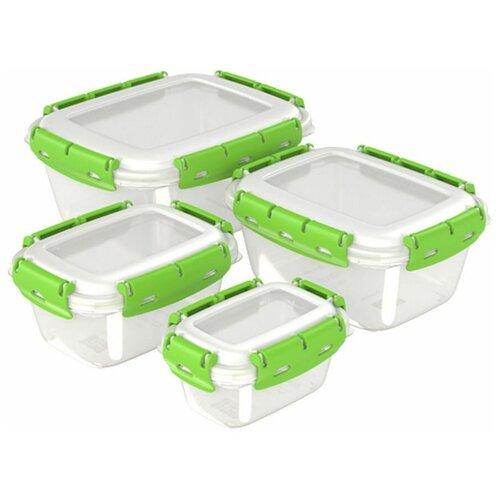 Набор контейнеров (ланч-боксов) InHome, 4 шт (0.38л, 0.8л, 1.5л, 2.5л)