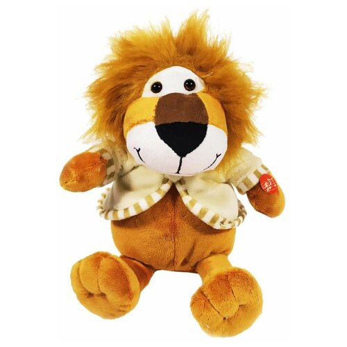 Мягкая игрушка Лев в кофте музыкальный коричневый 30 см