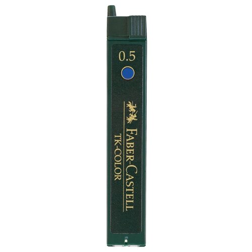 Фото - Faber-Castell Грифели для механических карандашей, 0,5 мм, 12 шт (128544) синий канцелярия faber castell грифели для механических карандашей polymer 0 7 мм hb 12 шт