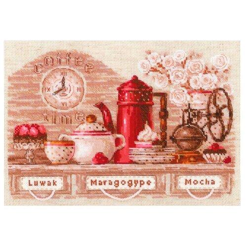 Купить Риолис Набор для вышивания Coffee Time 30 х 21 см (1874), Наборы для вышивания