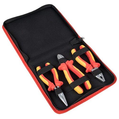 Набор инструментов EKF (3 предм.) НИИ-12 желтый/красный набор инструментов для точных работ rexant 37 предм 12 4702 желтый красный