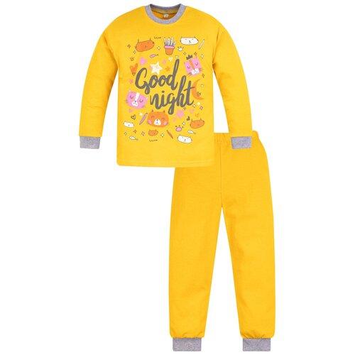 Купить Пижама детская 819п, Утенок, размер 56(рост 98 см) желтый_ночь, Домашняя одежда