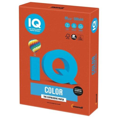Фото - Бумага IQ Color A4 80 г/м² 500 лист., кирпично-красный ZR09 бумага iq premium a4 80 г м² 500 лист