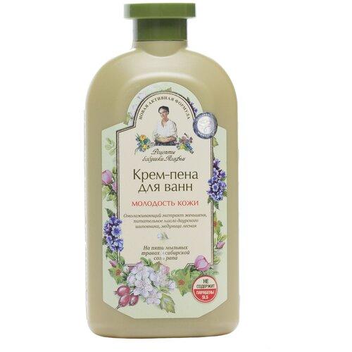 Фото - Рецепты бабушки Агафьи Крем-пена для ванн Молодость кожи, 500 мл соль для ванн с медом рецепты бабушки агафьи противопростудная 800 мл