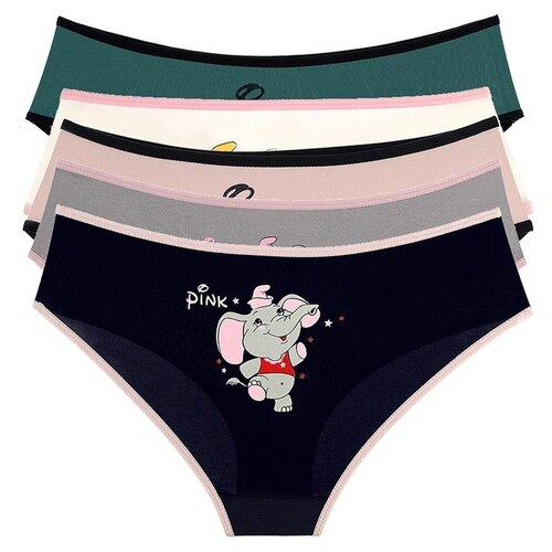 Купить Трусы для девочек 5071DF, Цвет: Микс, Размер: 12/13, 5шт. в упаковке, Donella, Белье и купальники