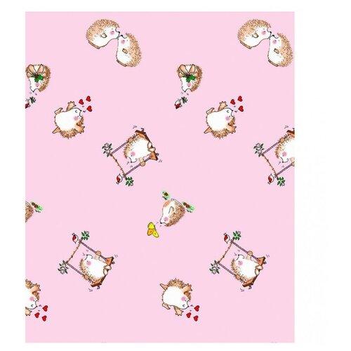 Ангелочки Пододеяльник 120х125 розовый ангелочки влюблены