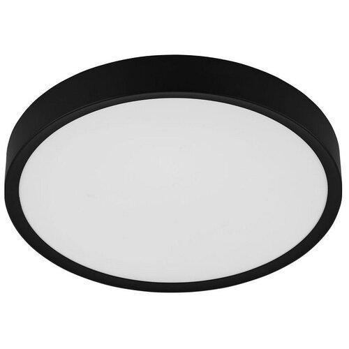 Фото - Накладной светильник Eglo, 1х33,5W, черный, размеры (мм)-440х75, 3000К, плафон - белый накладной светильник novotech 3х12w белый размеры мм 105x38x236 3000к плафон белый черный