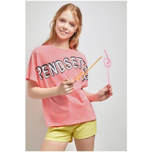 Купить Футболка для девочек размер 140, розовый, ТМ Acoola, арт. 20210110302, Футболки и майки