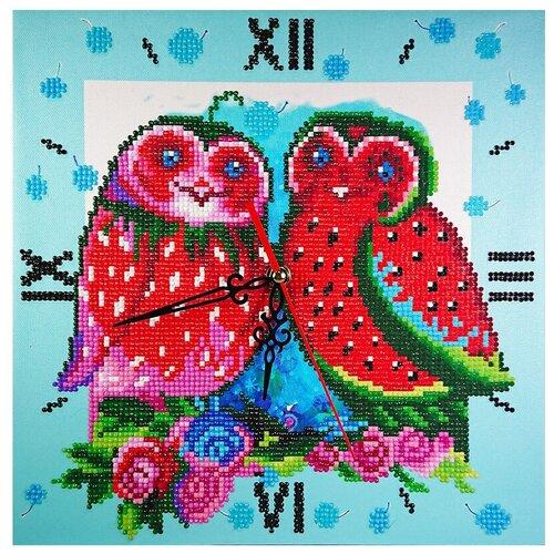 Фото - Color Kit Набор алмазной вышивки с часовым механизмом Фруктовые совы (7303011) 30х30 см color kit набор алмазной вышивки с часовым механизмом две стихии 7303013 30х30 см