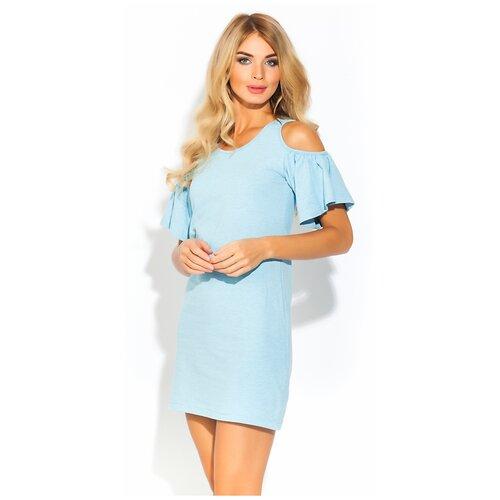 Платье - туника AZALEA (PM 1437) размер XS (42), голубой меланж