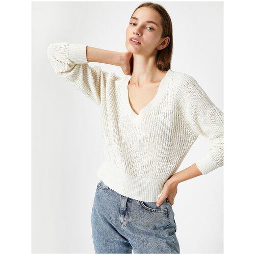 Пуловер KOTON, размер M(38), 002 экрю