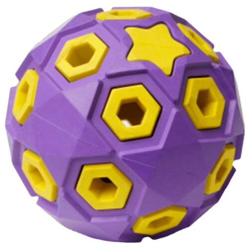 Игрушка для собак Homepet Silver Series Звездное небо мяч каучук сиренево-желтый 8 см (1 шт)