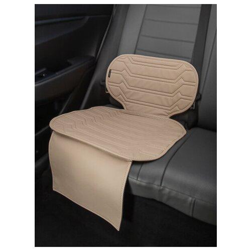 Чехлы (накидки) под бустеры. Защита сидений авто. Цвет: светло-бежевый. 1 шт. КОЛИБР
