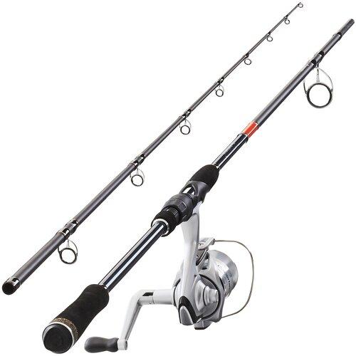 Комплект из удилища + катушки для ловли хищной рыбы Wixom-5 240 XH, размер: Единый, цвет: Темно-Синий CAPERLAN Х Декатлон
