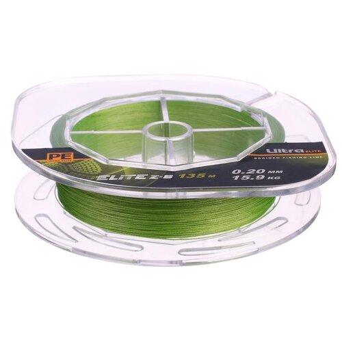 Леска плетёная Aqua Pe Ultra Elite Z-8, d=0,20 мм, 135 м, нагрузка 15,9 кг 2173942 по цене 418
