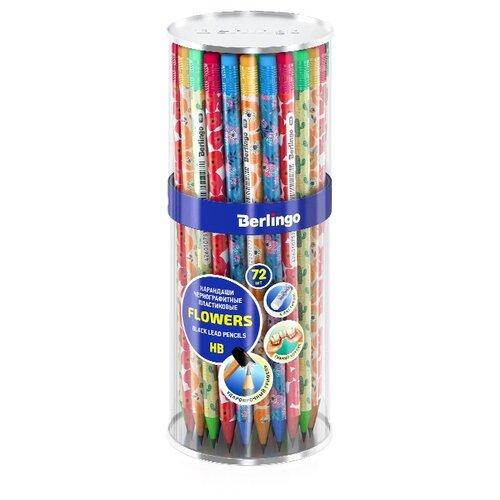 Купить Berlingo Набор чернографитных карандашей Flowers HB, 72 шт. (BP01195), Карандаши