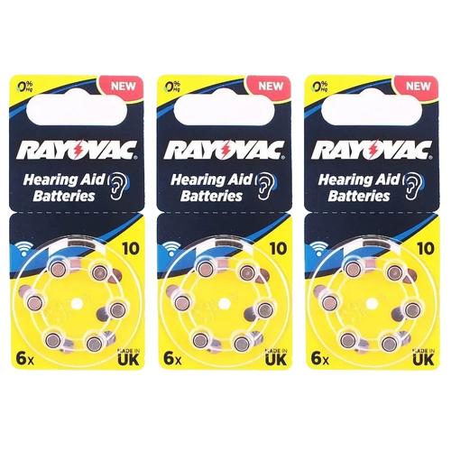 Фото - Батарейка RAYOVAC 10, 6 шт., 3 уп. батарейка rayovac extra za312 6 шт