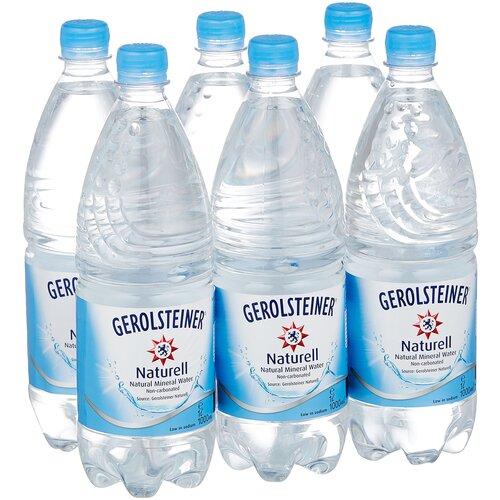 Вода минеральная Gerolsteiner негазированная, ПЭТ, 6 шт. по 1 л