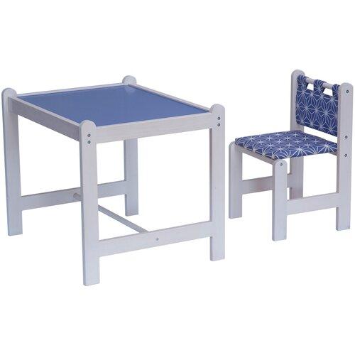 Комплект Гном стол + стул Pixy 62x52 см синий