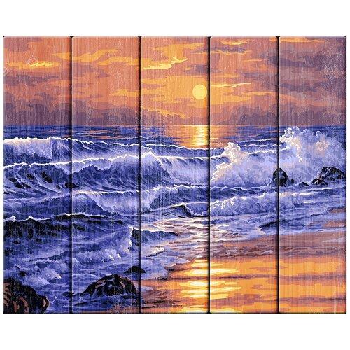 Фото - ФРЕЯ Картина по номерам Закат над морем 40х50 см (PKW-1 66) картина по номерам фрея нотр дам огненный закат 40х50 см