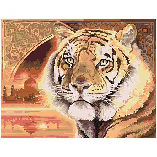 Купить Картина по номерам Тигр, 70 х 100 см, Красиво Красим, Картины по номерам и контурам
