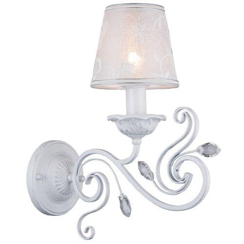 Настенный светильник Люмьен Холл Zhasmin 1002/1W-WS, E14, 40 Вт, кол-во ламп: 1 шт., цвет арматуры: белый, цвет плафона: белый