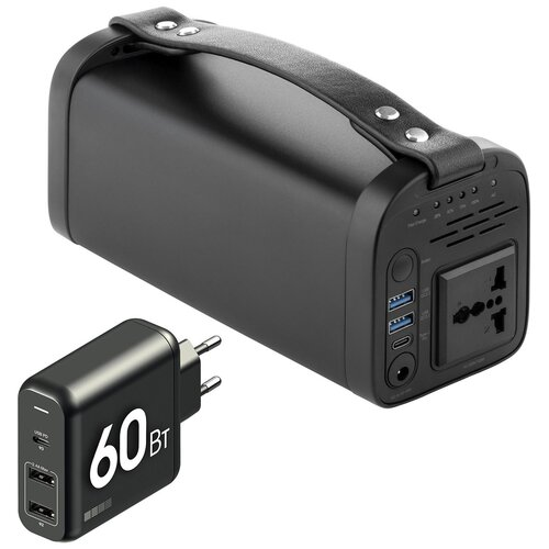 Внешний аккумулятор 220В 40000мАч 150Вт + Type-C зарядка 60Вт