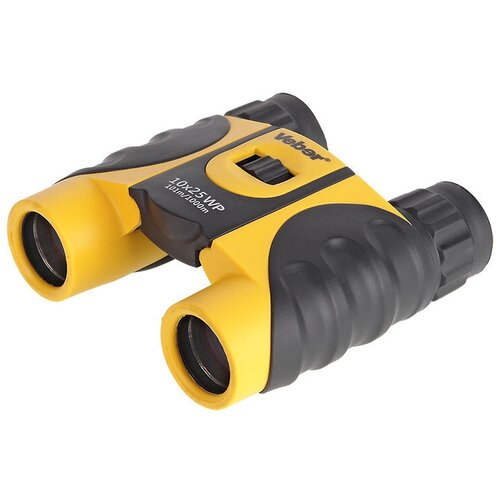 бинокль детский veber эврика цвет желтый черный Бинокль Veber 10x25 WP черный-желтый черный/желтый