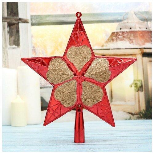 Наконечник на елку Зимнее волшебство Звезда 4325495, красный