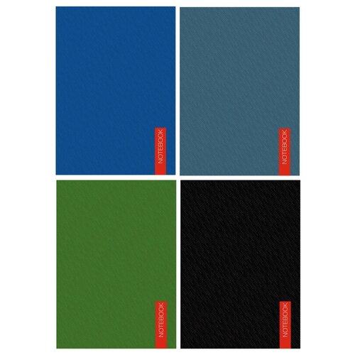 Купить Блокнот А6, 40л, клетка, склейка, в ассортименте БСК64031/32/33/34 7 штук, Канц-Эксмо, Блокноты и записные книжки