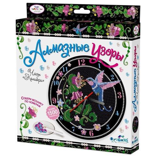 Фото - Origami Набор алмазной вышивки Алмазные узоры Часы Колибри с часовым механизмом (03211) color kit набор алмазной вышивки с часовым механизмом две стихии 7303013 30х30 см