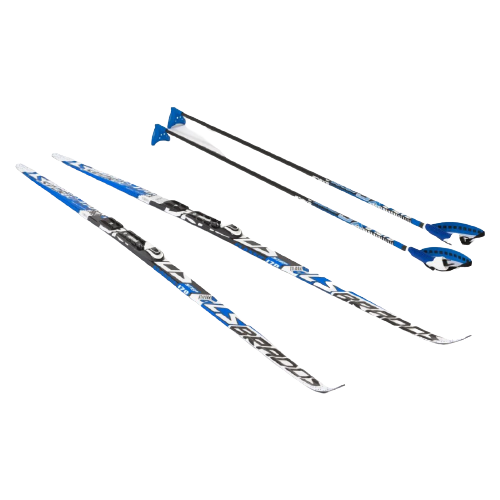 Фото - Беговые лыжи STC NNN Rottefella Step Brados LS с креплениями, с палками blue 170 см беговые лыжи stc step kid combi черный белый желтый 110 см