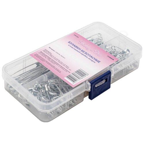 Булавки безопасные в пластиковой коробке, ассорти, 174шт Hobby&Pro, Hobby & Pro, Иглы  - купить со скидкой