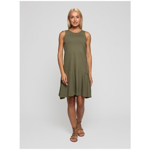 Женское легкое платье сарафан, Lunarable хаки, размер 48