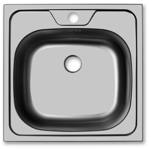 Врезная кухонная мойка 48 см, UKINOX Classic CLM 480.480-T6K 0C, нержавеющая сталь матовая