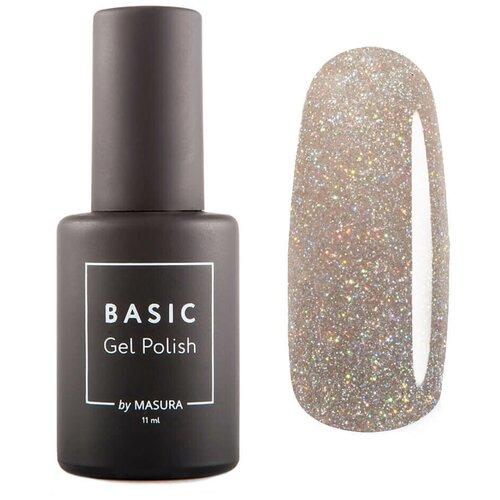 Купить Гель-лак для ногтей Masura Basic, 11 мл, Голографический Нюд