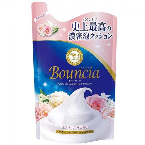 Bouncia Увлажняющее мыло для тела со сливками и коллагеном, с ароматом роскошного букета, мягкая упаковка, 400 мл