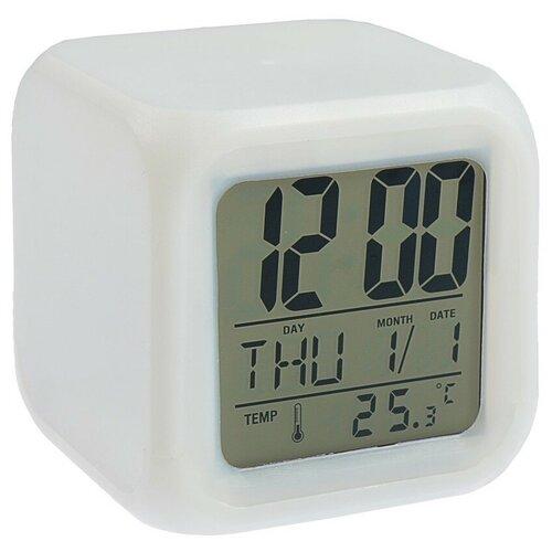 Часы с термометром Luazon 137977 белый