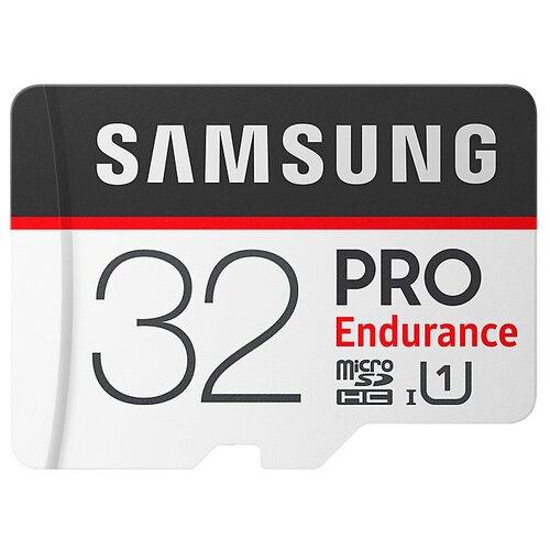 Фото - Карта памяти Samsung microSDHC PRO Endurance UHS-I U1 100MB/s + SD adapter 32 GB, чтение: 100 MB/s, запись: 30 MB/s, адаптер на SD карта памяти pioneer microsd class 10 uhs i u1 16 gb чтение 70 mb s адаптер на sd