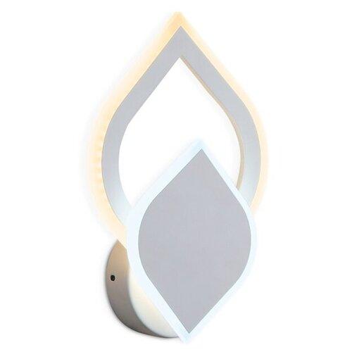 Фото - Настенный светильник Ambrella light FA566 WH/S белый/песок, 10 Вт настенный светильник ambrella light fa565 wh s белый песок 13 вт