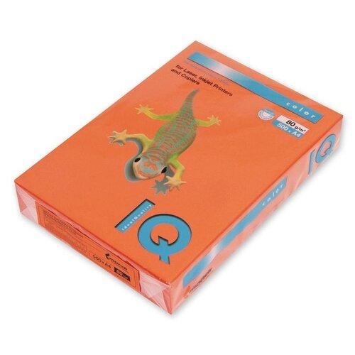 Фото - Бумага цветная А4 500л IQ COLOR, 80г/м2, оранжевый, OR43 1520953 бумага цветная а4 500л iq color 80г м2 желтый zg34 1520958