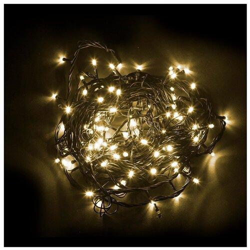 Гирлянда Feron Нить CL08 6000 см (мигающая), 600 ламп, теплый белый/зеленый провод гирлянда feron нить cl34 1000 см 100 ламп теплый белый черный провод