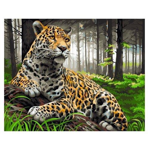 """ФРЕЯ Картина по номерам """"Леопард на охоте"""" 40х30 см (PNB/R2 №38)"""